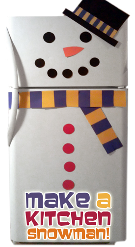 Snowman Fridge | Breathtakingly Rustic Homemade Christmas Decorations