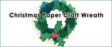 Another Easy Christmas Wreath Craft for Kids