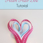 Heart Hair Bow Craft for Valentine's Day