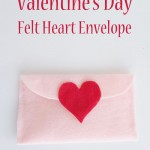 Valentine's Day Felt Heart Envelope