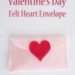 Valentine's Day Felt Heart Envelope