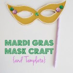 Mardi Gras Mask Craft {and Template}