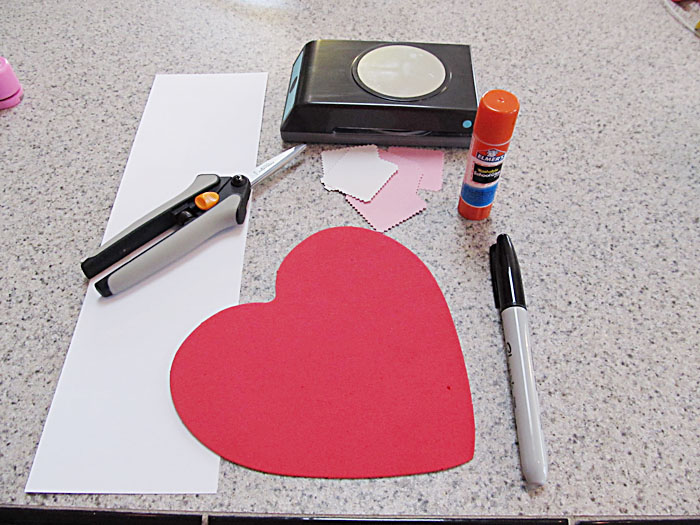 Materials to Make the Valentine's Day Ladybug
