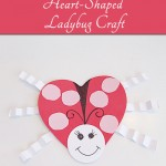 Heart Shaped Ladybug Craft for Valentine's Day