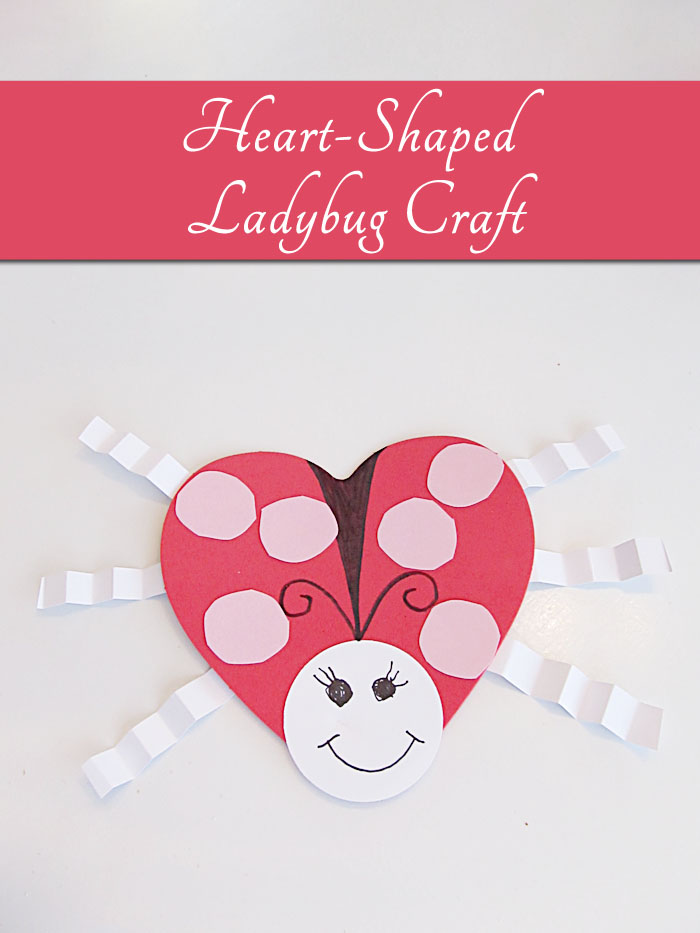 Heart shaped ladybug craft for valentine 39 s day woo jr for Valentines day toddler crafts