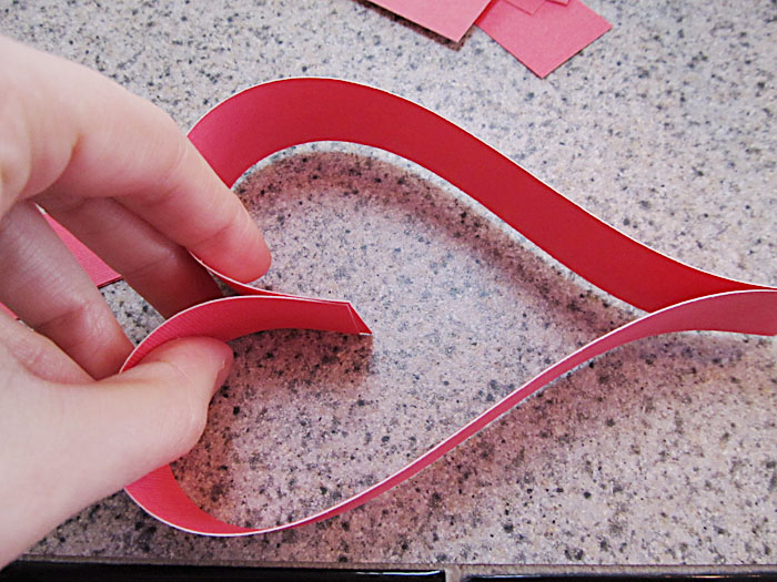 Making the top of the heart shape