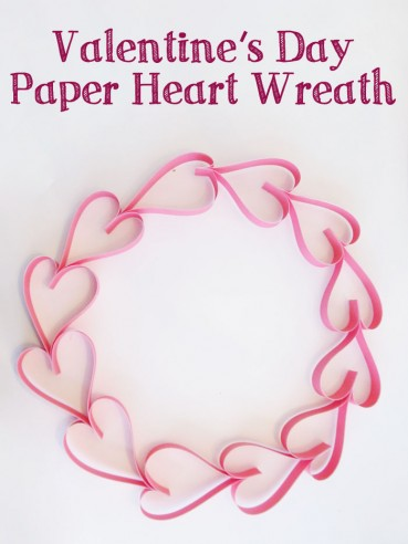 Valentine's Day Paper Heart Wreath