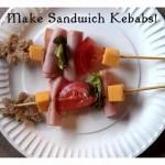Crafting With Food: Sandwich Kebab Lunch Idea