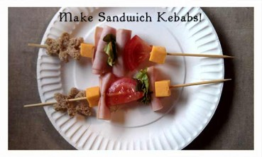 Crafting With Food: Sandwich Kebab Lunch Idea