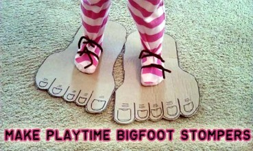 Recycled Playtime Craft: Stomping Feet