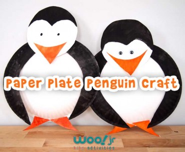 Preschool Christmas or Winter Crafts: Paper Plate Penguin