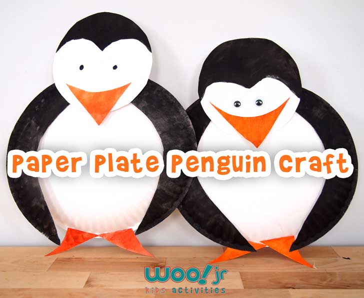Easy Paper Plate Penguin Craft for Kids & Preschool Christmas Craft Winter Crafts Penguin Craft