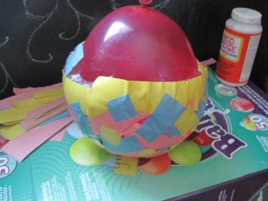 The next morning your balloon may or may not have shrunken, which just looks funny!