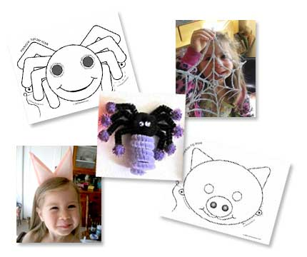 We have plenty of great spider and pig crafts on Craft Jr.!