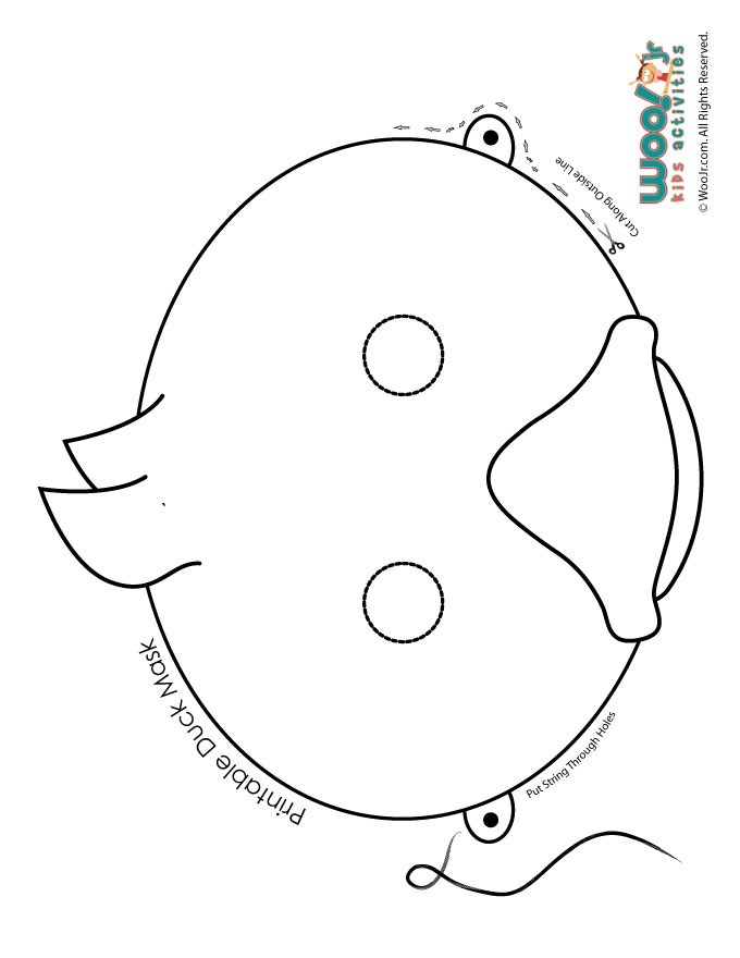 Make Way For Ducklings Printable Role Play Mask Coloring Page Woo