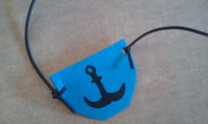 You can use a permanent marker to decorate your pirate eye patch if you feel so inclined, too!