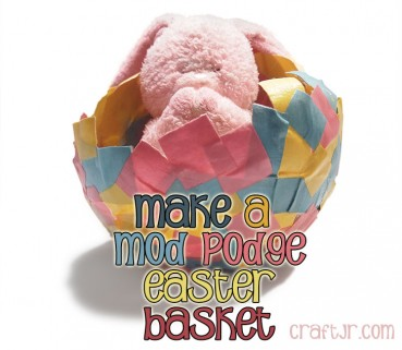 Mod Podge Egg Shell Paper Easter Basket Craft
