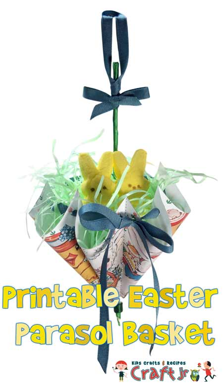 Free Printable Easter Parasol Baskets