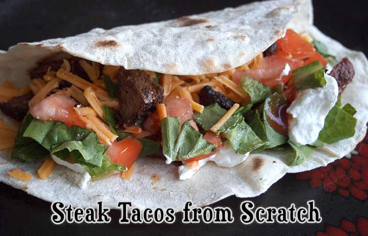 Our family original steak tacos recipe!