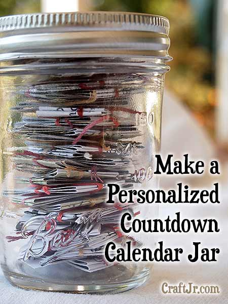 How to Make a Countdown Calendar for Your Kids or a Good Friend