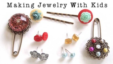Easy Glued Jewelry Kids Can Make