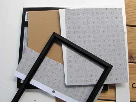 Inserting the Foam Core and Scrapbook Paper into the Halloween Display Frame