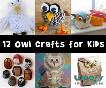 Animal Crafts for Fall: Owl Crafts