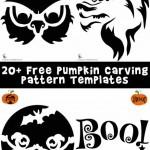 Pumpkin Stencils for Halloween