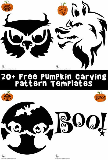 20+ Free Pumpkin Carving Pattern Templates
