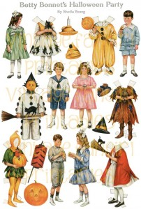 Vintage Halloween Betty Bonnet 1917 Paper Dolls