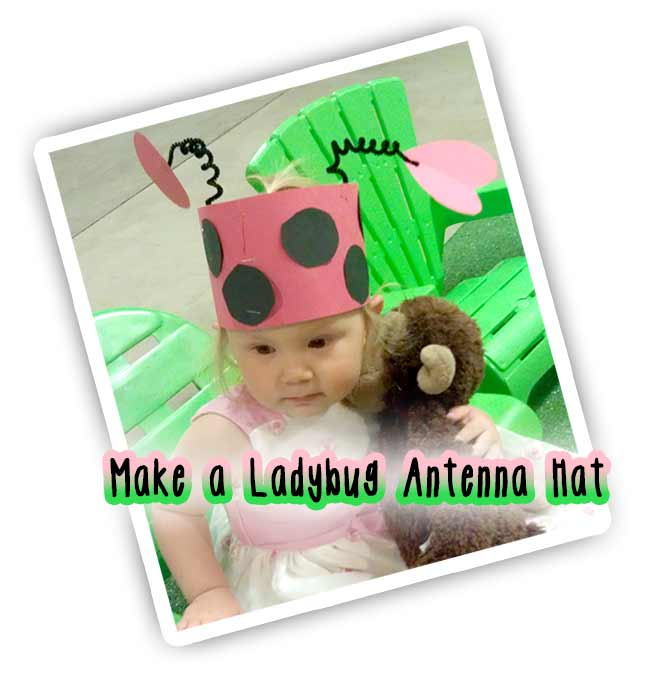 How to make a last minute adorable ladybug costume hat for kids.