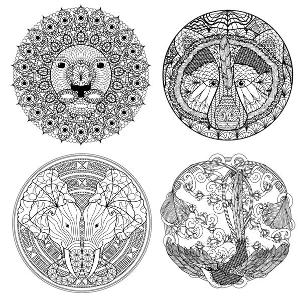 Sneak Preview of some of the animal mandalas from my new