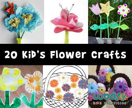 20 Kid's Flower Craft Ideas