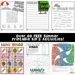 Summer Worksheets for Kids
