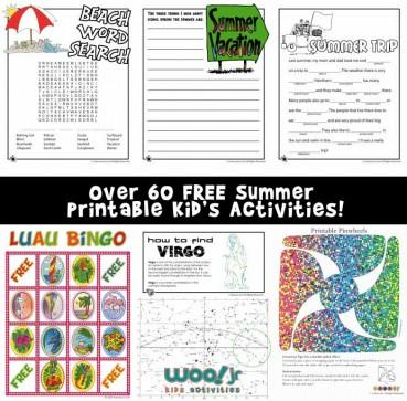 Summer Worksheets for Kids