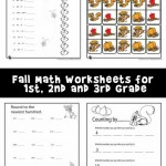 Fall Math Worksheets for 1st, 2nd & 3rd Grade