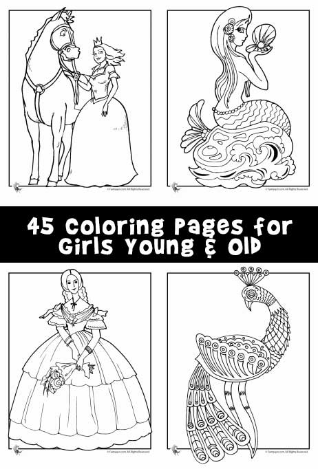 Coloring Pages for Girls Young & Old - Woo! Jr. Kids Activities