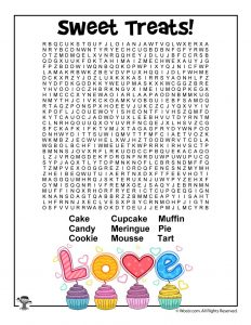 Sweet Treats Word Search