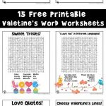 Valentine's Day Word Worksheets