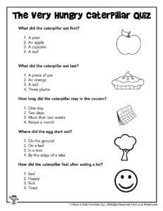 The Very Hungry Caterpillar Quiz