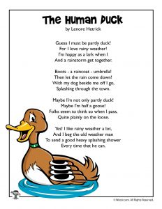 Spring Poem - The Human Duck