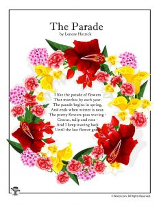 The Parade Spring Poem for Kids