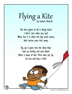 Flying a Kite Spring Poetry