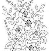 Easy Flower Adult Coloring Pages