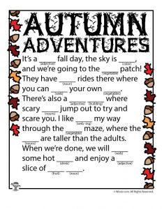 Autumn Adventures Mad Lib