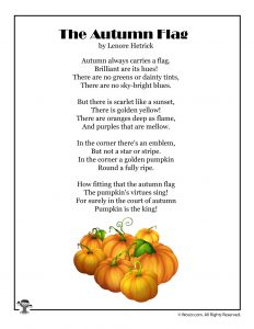 The Autumn Flag Poem for Kids