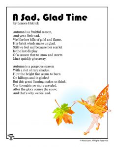 A Sad, Glad Time Autumn Children's Poem