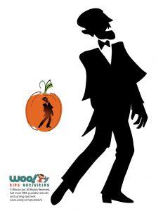 Dracula Silhouette Pumpkin