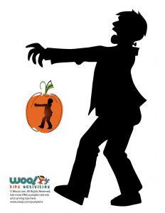 Frankenstein Silhouette Pumpkin