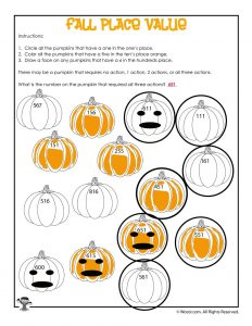 Place Values Visual Worksheet Answer Key